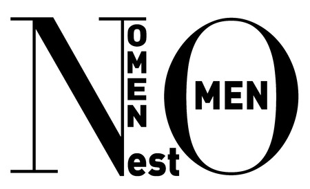 est: Nomen est Omen (Latin) or Your name is your destiny, in clean, strong black and white typographic  image, vector