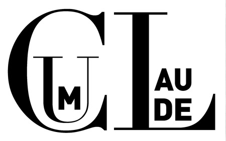 Cum laude (Latin) or With honor, in clean, strong black and white typographic  image