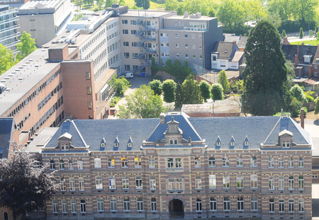 limburg: View over hasselt, limburg, belgium, europe, with old clinic in front