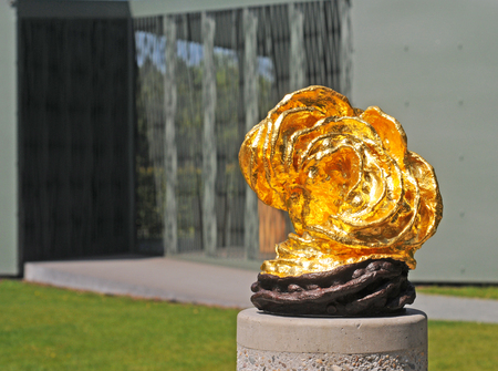 ANTWERP, BELGIUM - MAY 18, 2014: Art by Bandeau in the Middelheim Open Air Sculpture Museum. Over 200 sculptures by leading modern and contemporary sculptors are exhibited on its 25th anniversary Editorial