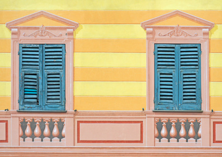 illusions: Typical trompe-loeil or paintery illusions on buildings of historical significance in Liguria, Italy