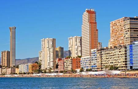skyline of benidorm, costa blanca or white coast, spain, europe Editorial
