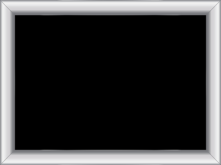 room for text: illustration of a basic silver frame with room for text on black background