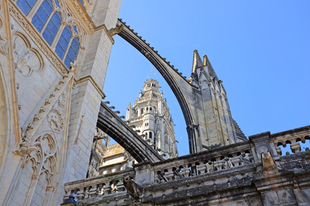 Cathedral of Saint Gatien in Tours, department Indre-et-Loire in France, Europe Stock Photo