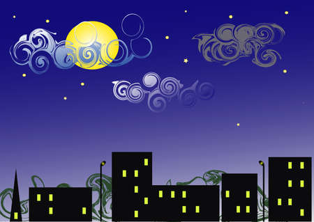 Night in city Stock Vector - 12841984