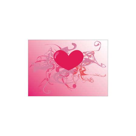 Heart in love Illustration