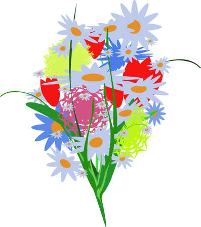 bouquet with flovers Stock Vector - 12841989
