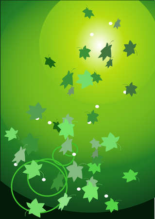 green light - green leaves Illustration