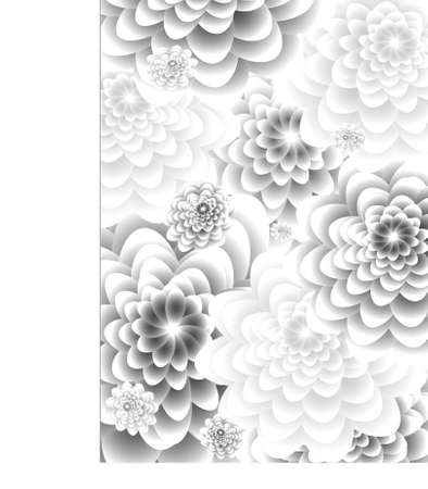 floral background in shades of gray Stock Vector - 13671617