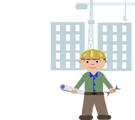 man s profession builder Stock Vector - 14572464