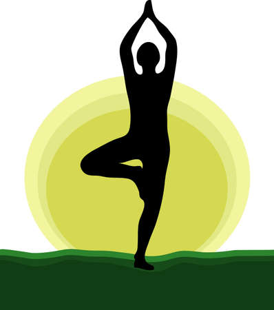 yoga for health and mind Illustration