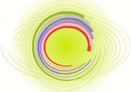 color circles in spiral chaos