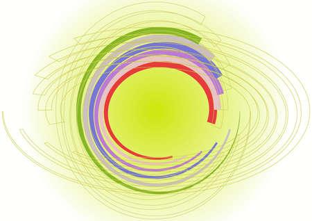 color circles in spiral chaos Stock Vector - 14813620