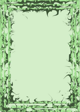 frame with a green grass along the edges Stock Vector - 14813622