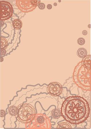 flower background for a frame
