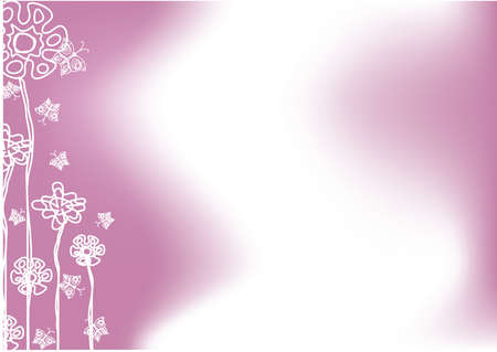 flower background with butterflies