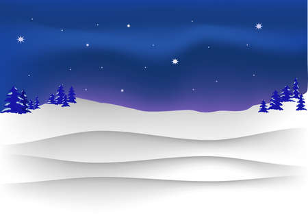 winter night, and the stars in the sky Stock Vector - 17101093