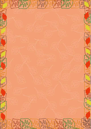 frame from color leaves Stock Vector - 17318147