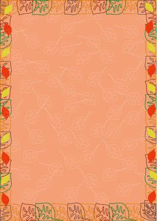 frame from color leaves Illustration