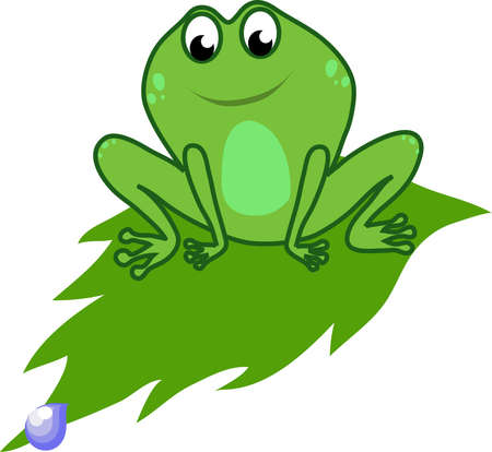 frog on a leaf Stock Vector - 18439616
