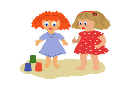 girls build of figure sand