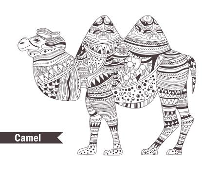 Elefante. Libro Para Colorear Para Los Adultos, Páginas Para ...