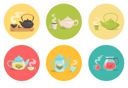 oolong: Types of tea. Vector isolated illustration on a white background. Illustrations for cooking site, menus, books.