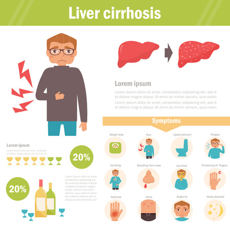 Liver cirrhosis. Vector. Illustration