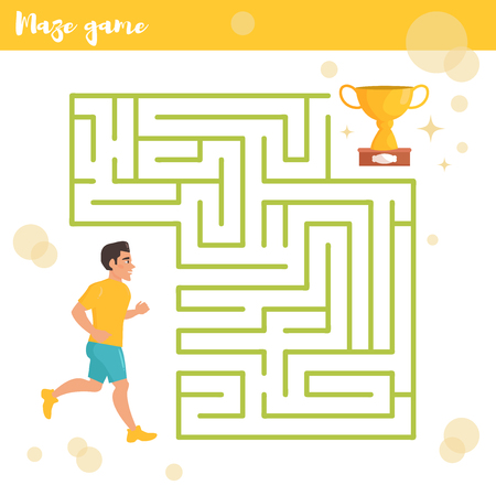 labyrinthine: Childrens labyrinth. Vector. Cartoon.