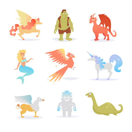 Mythological and fairy creatures.