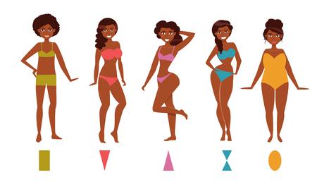 Type of female figures Illustration