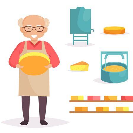 Cheese maker. Machine producing cheese