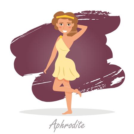 classical mythology character: Aphrodite. Greek gods. Vector Illustration