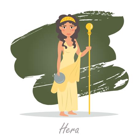 classical mythology character: Hera. Greek gods. Vector