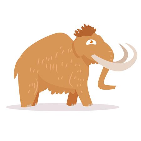 Mammoth. Isolated art on white background.