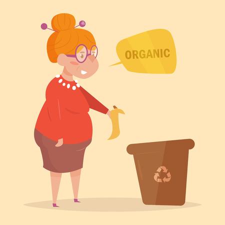 Organic. Separate sorting garbage.