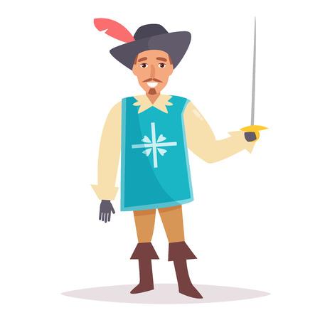 Musketeer illustration. Illustration