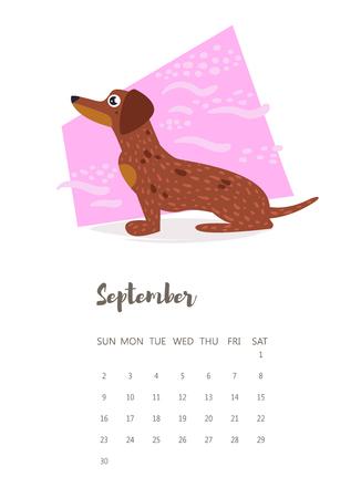 september calendar: September 2018 calendar icon.