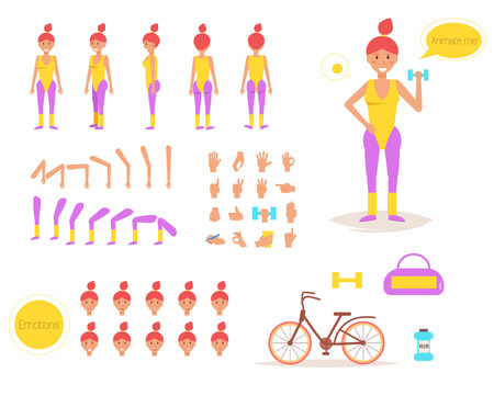 Sporty woman for animation