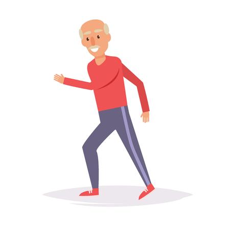 Oudere man rent. Sport.