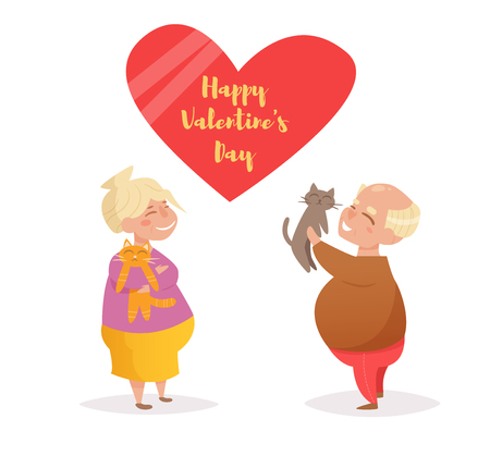 Valentine's Day. Vector. Cartoon. Isolated art on white background. Flat