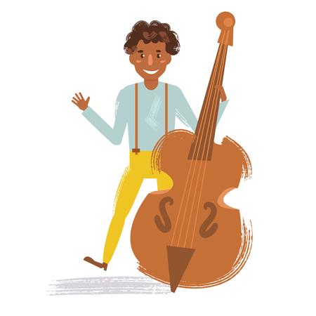 Jazz musician vector illustration.