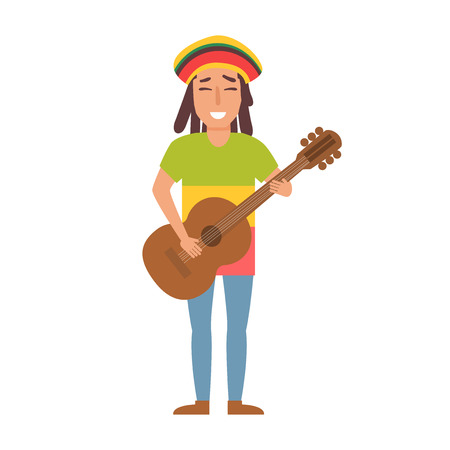 Musical style. Vector. Cartoon. Isolated