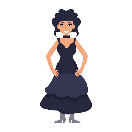 Goth vector cartoon isolated. Illustration