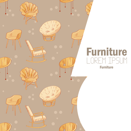 Card with furniture.