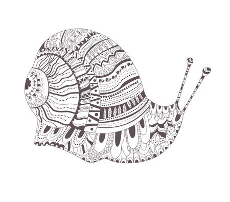 Tattoo sketch. Snail