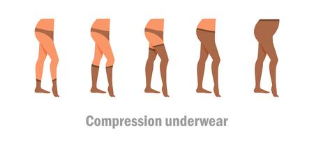 Compression underwear vector illustration.  イラスト・ベクター素材
