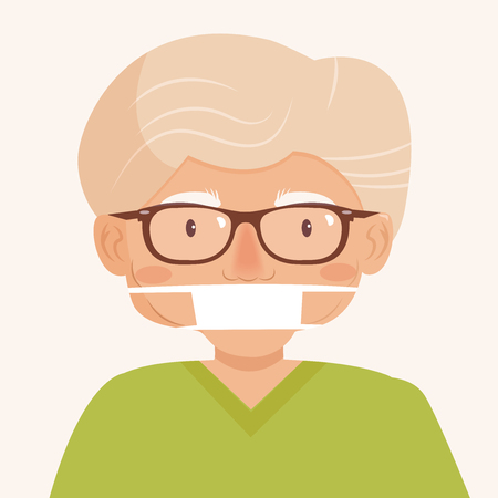 Man in the medical mask Vector illustration.