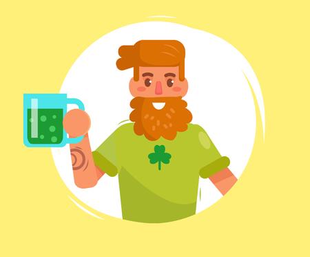 St. Patricks day. Vector. Cartoon. Ilustracja