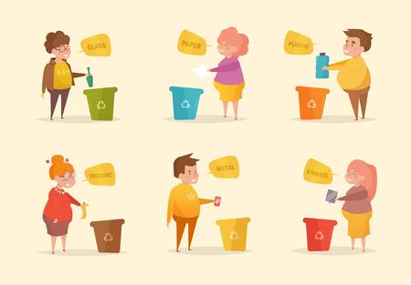 Separate sorting garbage. Vector.
